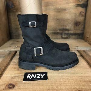 Harley Davidson Leather Side Zip Boot